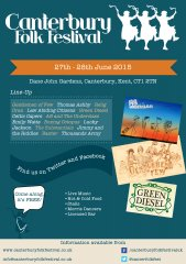 Canterbury Folk Festival Flyer