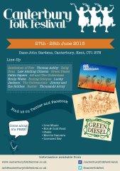 Canterbury Folk Festival Flyer